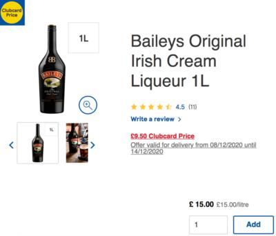 baileys offer on the Tesco website