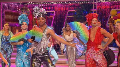 dancers doing a group dance on strictly