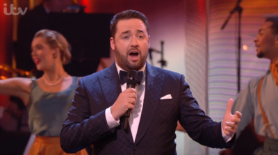 Jason Manford hosting The Royal Variety Performance in 2020 (Credit: ITV)