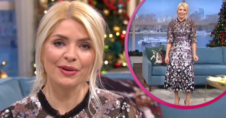 Holly Willoughby dress on This Morning today