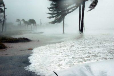Hurricane in Florida Keys