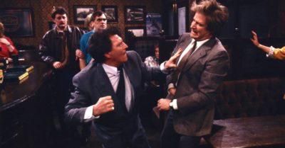 Mike Baldwin punches Ken Barlow