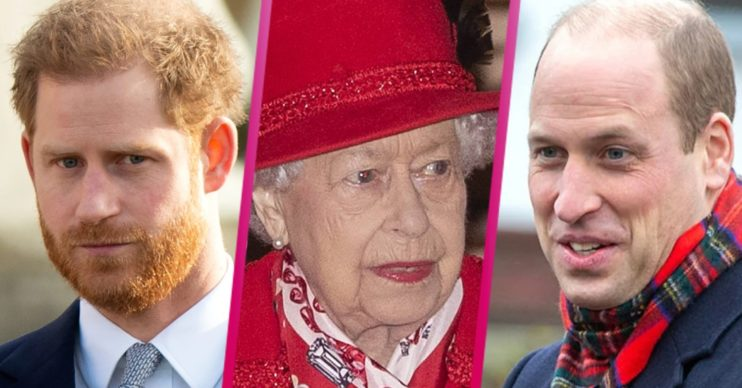 Prince Harry, the Queen, Prince William