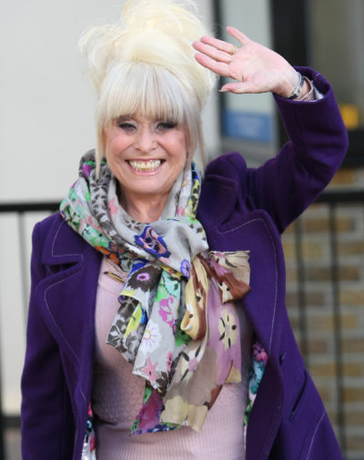 Barbara Windsor waving