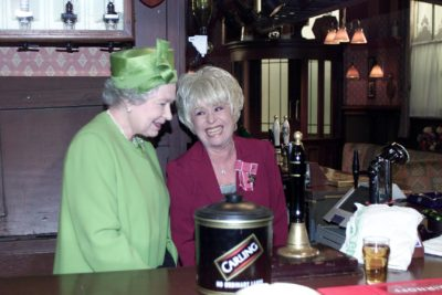 The Queen at the Queen Vic on EastEnders