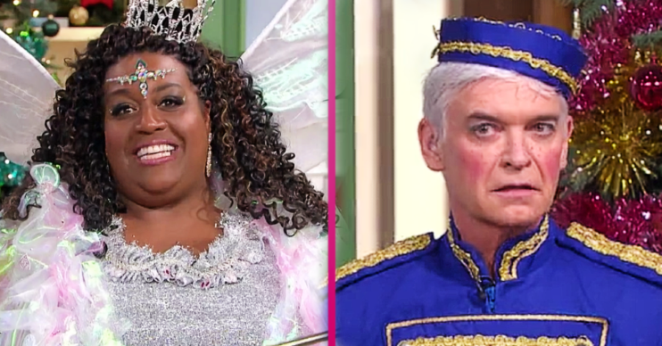 Alison Hammond makes a cheeky joke in the This Morning panto 2020