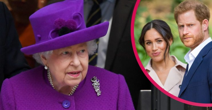 The Queen the Royal Family Harry and Meghan