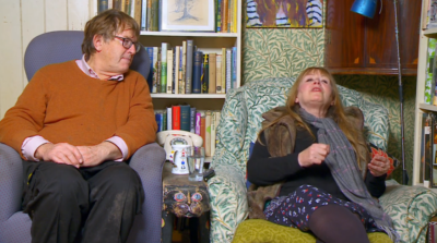 Gogglebox stars Giles and Mary