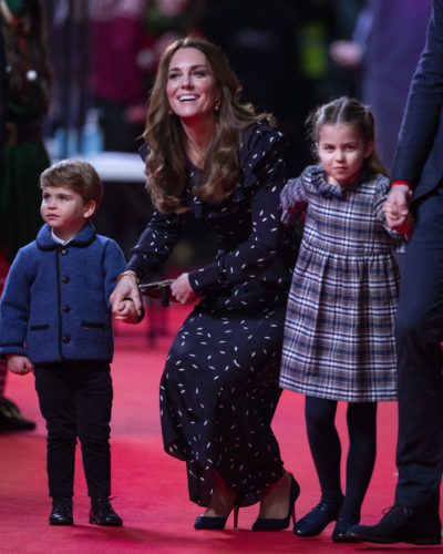 Kate, Louis and Charlotte at the panto