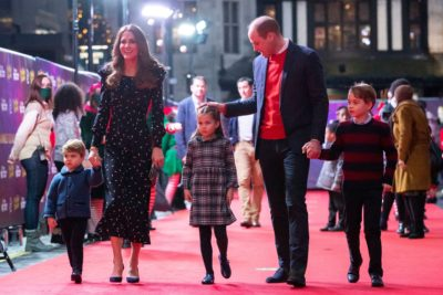 Prince William and family at the panto