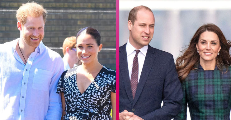 Prince Harry and Meghan Markle with Prince William and Kate Middleton