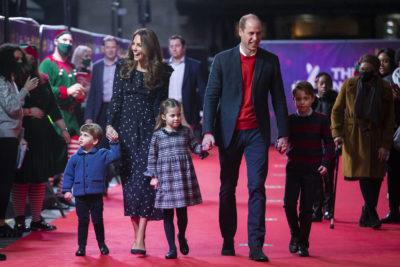royal family at the panto