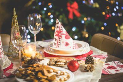 Christmas dinner tableaux