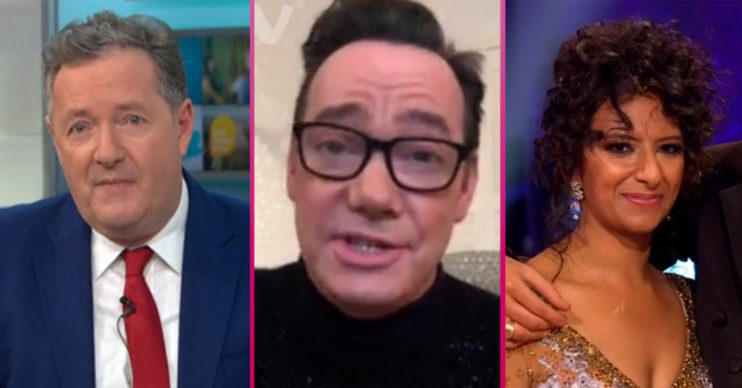 Piers Morgan, Craig Revel Horwood and Strictly star Ranvir Singh
