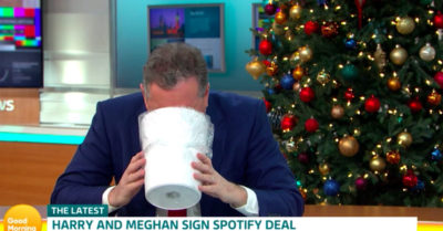piers morgan on gmb 'vomits' over meghan markle's podcast