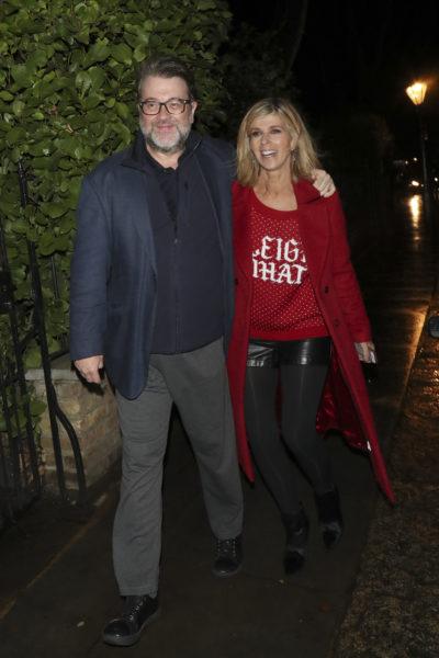 Kate Garraway and Derek Draper attend Piers Morgan's Christmas party