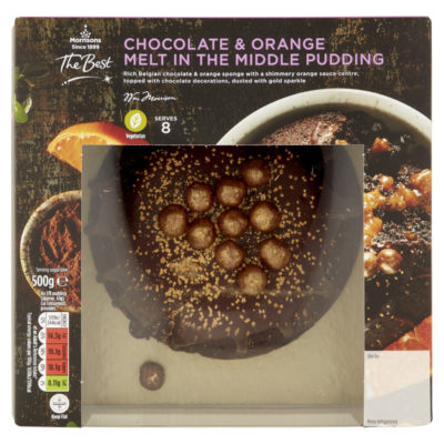 chocolate orange pudding from Morrisons