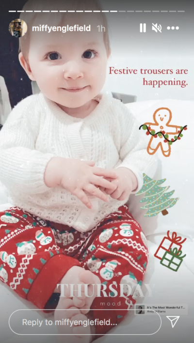 baby of The Holiday star Miffy