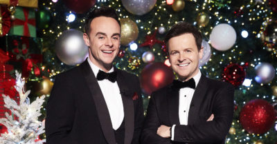 ant and dec on britain's got talent christmas special