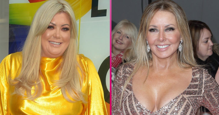 The Wheel star Gemma Collins and Carol Vorderman