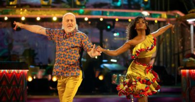 Bill Bailey and Oti Mabuse are in the Strictly Come Dancing final