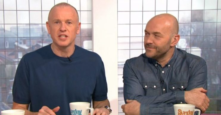 Tim Lovejoy and Simon Rimmer, Sunday Brunch Channel 4