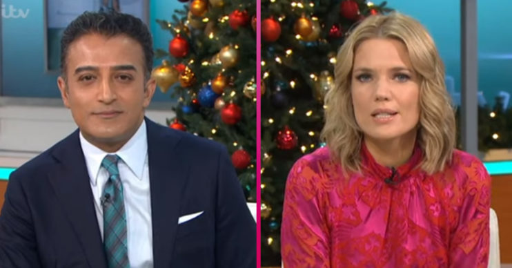 Adil Ray and Charlotte Hawkins on Good Morning Britain