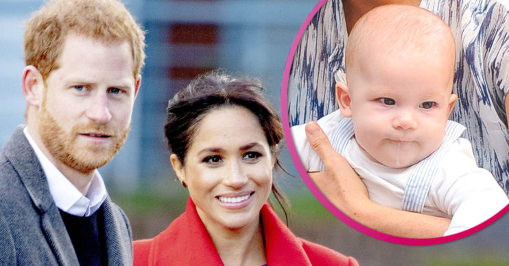 Prince Harry and Meghan Markle with son Archie