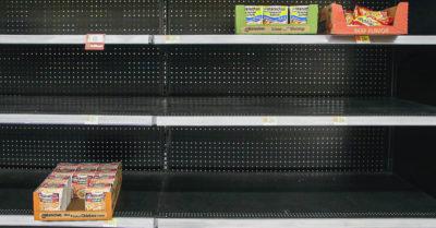 panic buying at the supermarket