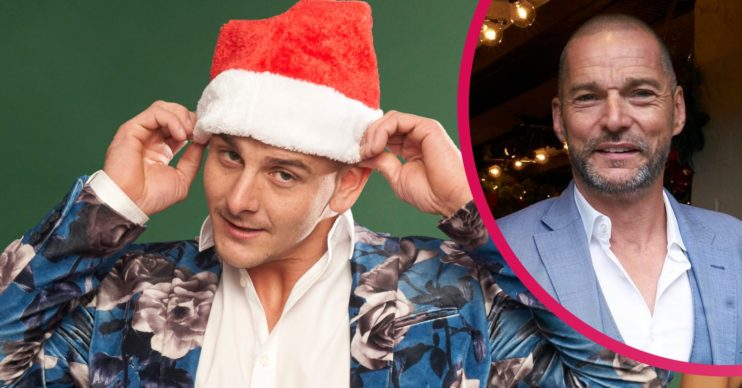 First Dates at Christmas hopeful James and host Fred Sirieix