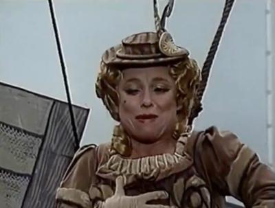 Dame Barbara Windsor played the original Saucy Nancy on Worzel Gummidge