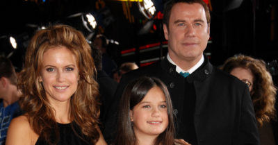 kelly preston with john travolta and daughter ella