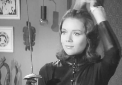 Diana Rigg starred as Emma Peel in The Avengers