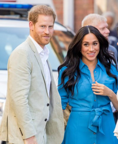 meghan and harry at an event