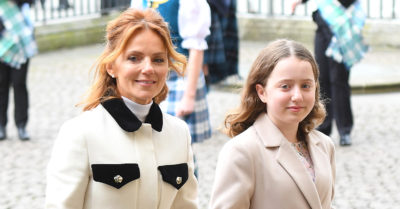 geri horner and daughter bluebell say goodbye to dog Daddy