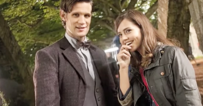 Jenna in Doctor Who with Matt Smith