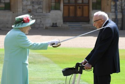 The Queen and Tom Moore