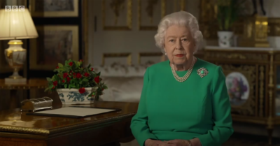 The Queen national address in April