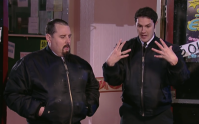 Paddy McGuinness and Peter Kay in Phoenix Nights