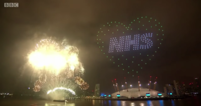 The BBC drew criticism for its overly political fireworks display
