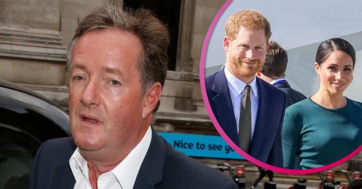 Piers morgan slams Harry and Meghan on twitter