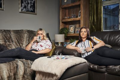Izzy and Ellie Gogglebox get new puppies for Christmas