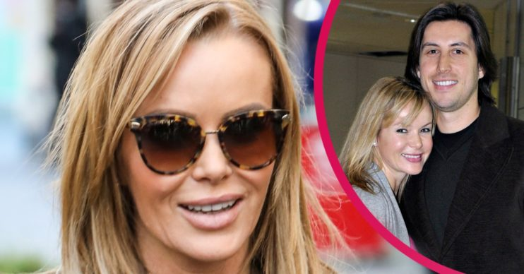 amanda holden reveals family photo after cheeky topless new year's eve snap
