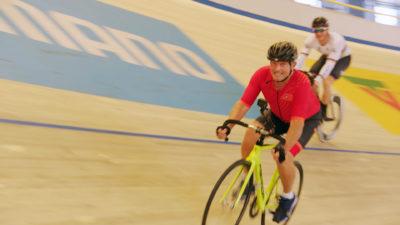 Bradley walsh in the velodrome