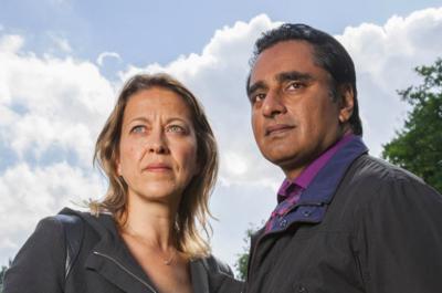 Nicola Walker and Sanjeev Bhaskar reunite in the fourth series of Unforgotten (Credit: ITV)