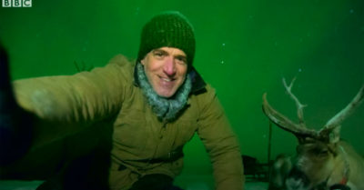 gordon with a reindeer bbc two