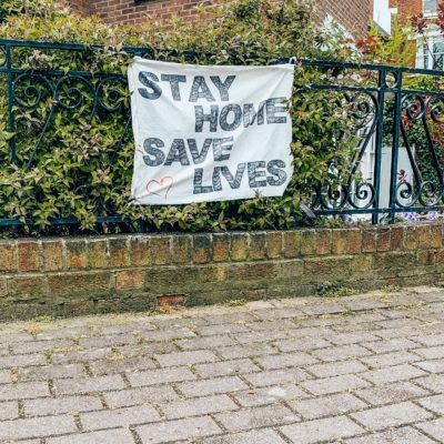 stay home save lives banner