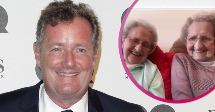 Piers Morgan sends message to Britain's oldest twins
