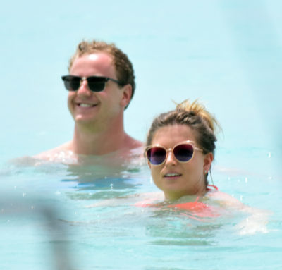 zara holland and her bloke on holiday