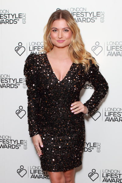 zara holland on the red carpet